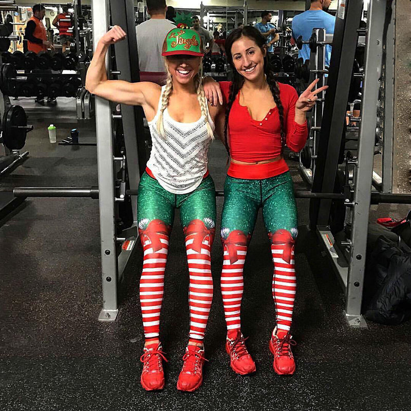 Christmas Leggings at the Gym so Fitmass leggings