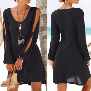 Summer Sleeve Mini Dress