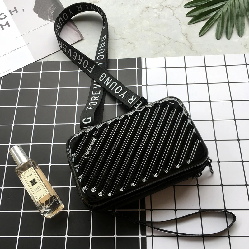 Women Black Purse Mini Luggage Style