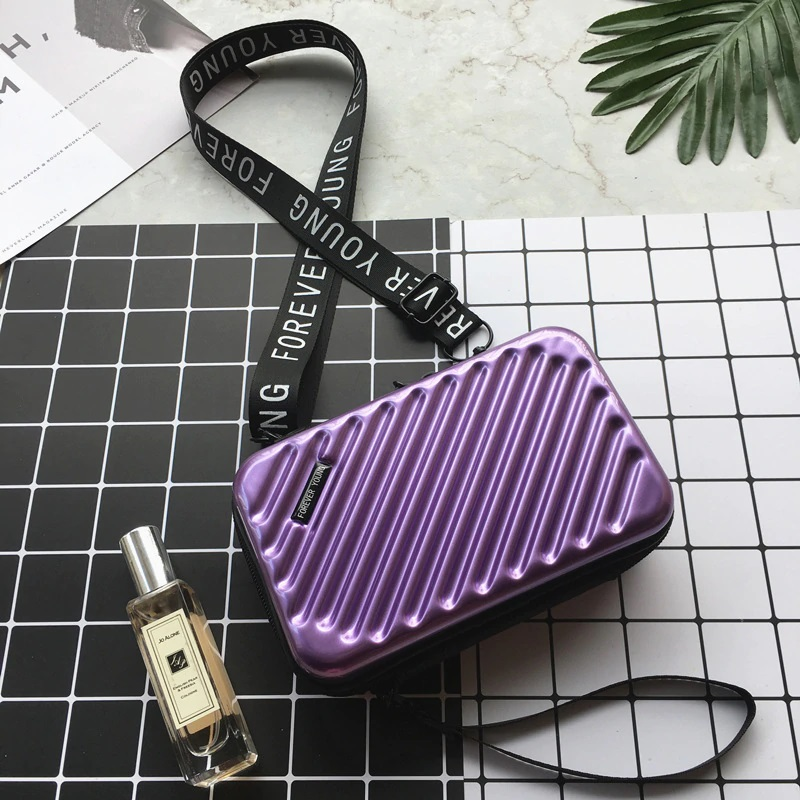 Women Purple Purse Mini Luggage Style