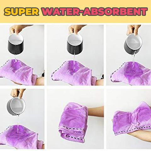 quick drying hair towel super water absorbent