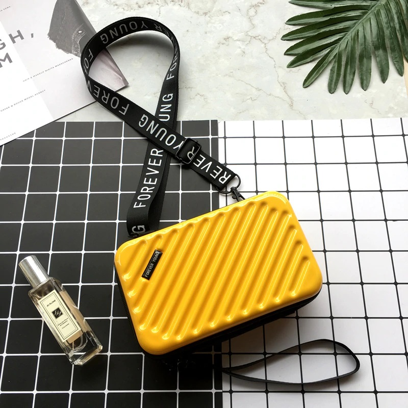 Yellow Luggage Style Purse