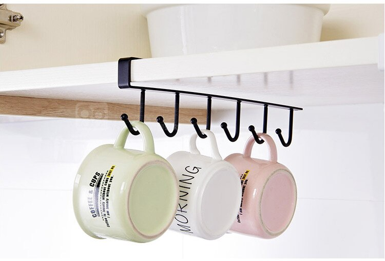 Cabinet Metal Hook Mug Holder