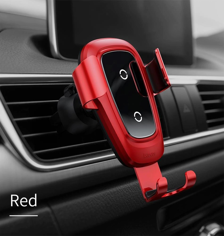 red color wireless charger phone holder